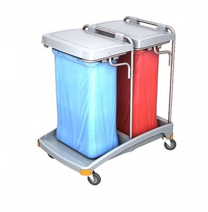 """Hochwertiger Abfallsammler von """"SPLAST"""" mit Müllsackhalterung für 2 x 120 l - Müllsack mit zwei Deck"""