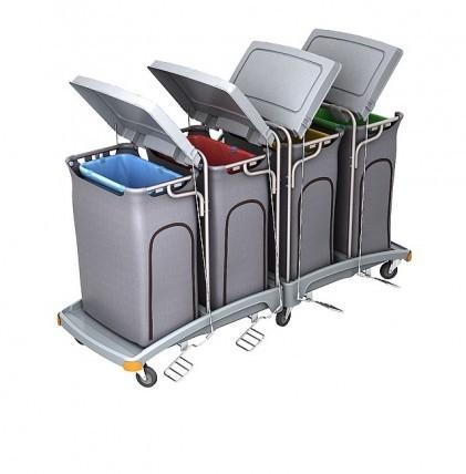 """Hochwertiger Abfallsammler von """"SPLAST"""" mit Müllsackhalterung für 4 x 120 l - Müllsack mit Deckel, P"""