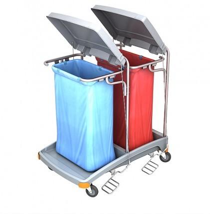 """Hochwertiger Abfallsammler von """"SPLAST"""" mit Müllsackhalterung für 2 x 120 l - Müllsack mit Deckel un"""