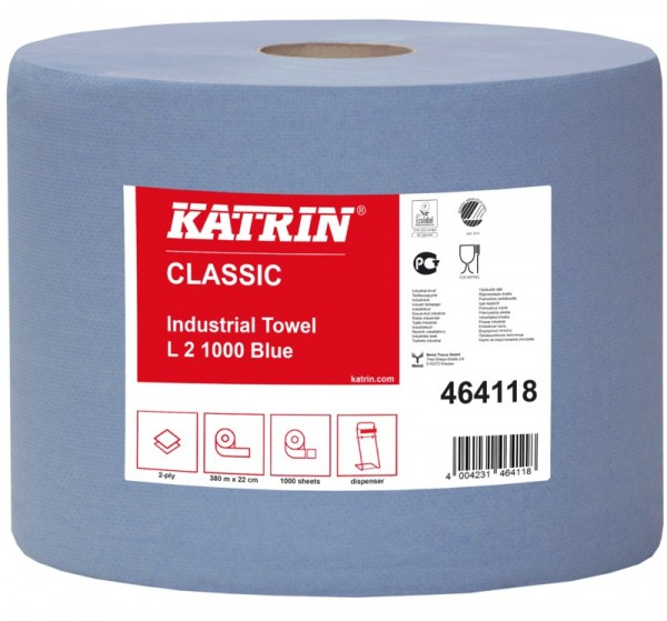 Katrin Classic Papierputztuchrolle, 2-lagig, 1 Paket