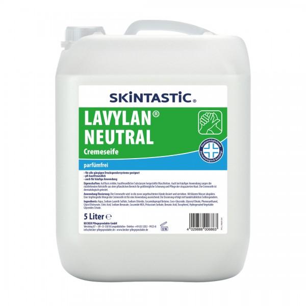 Skintastic Lavylan Neutral Cremeseife weiß, parfümfrei 5 Liter