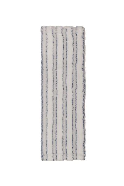 Premium Mikrofasermopp 50 cm, weiß/blau mit Laschen
