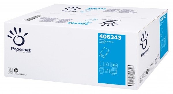 Papernet Handtuchpapier SPECIAL EXTRA Weiß, 24 x 23 cm, 2-lagig, V-Falz RC