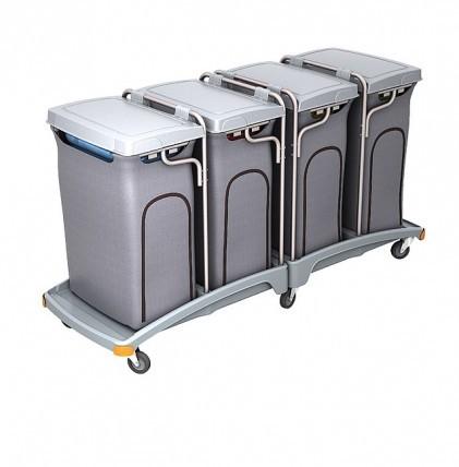 """Hochwertiger Abfallsammler von """"SPLAST"""" mit 4 Müllsackhalterungen für 120 l - Müllsäcke mit Deckel u"""