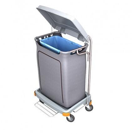 """Hochwertiger Abfallsammler von """"SPLAST"""" mit Müllsackhalterung für 120 l - Müllsack mit Pedal, Deckel"""
