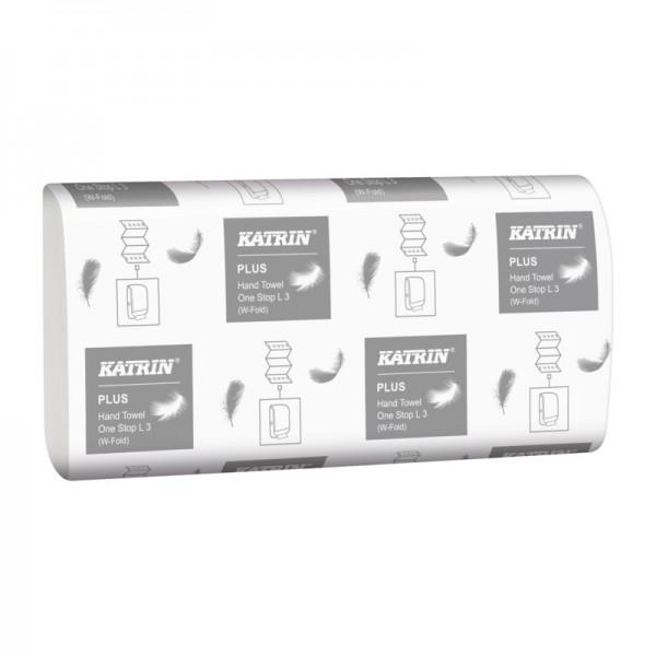 Katrin Plus One Stop L 3 Handtuchpapier, Interfold, 3-lagig, hochweiß