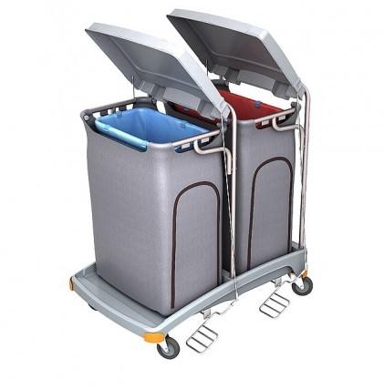 """Hochwertiger Abfallsammler von """"SPLAST""""mit Müllsackhalterung für 2 x 120 l - Müllsack mit Deckel und"""
