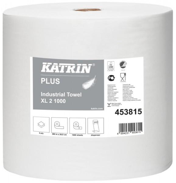 Katrin Plus XL 4 1000L Papierputztuch weiß, 4-lagig, 26,5x36 cm