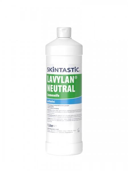Skintastic Lavylan Neutral Cremeseife weiß, parfümfrei, 1 Liter