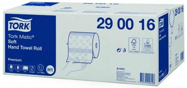 Tork Matic weiches Rollenhandtuchpapier, 2-lagig, hochweiß,