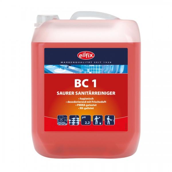 Eilfix BC 1 Sanitärreiniger sauer, dünnflüssig, 5 Liter