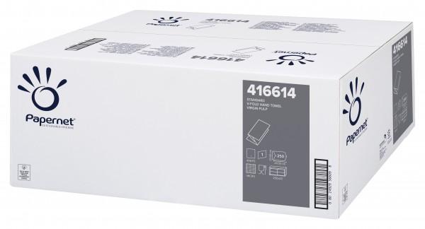 Papernet Handtuchpapier Standard Natur Interfold, 22 x 32 cm, 1-lagig, W-Falz RC