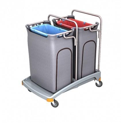 """Hochwertiger Abfallsammler von """"SPLAST"""" mit Müllsackhalterung für 2 x 120 l - Müllsack und zwei Abfa"""