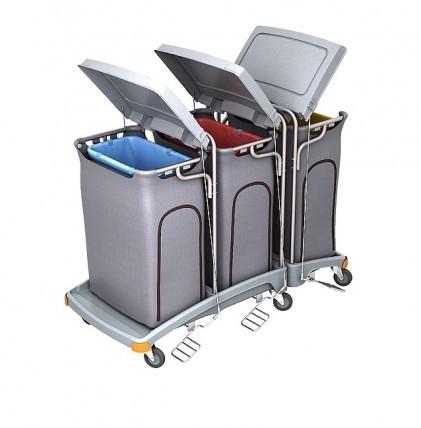 """Hochwertiger Abfallsammler von """"SPLAST"""" mit Müllsackhalterung für 3 x 120 l - Müllsack mit Deckel, P"""