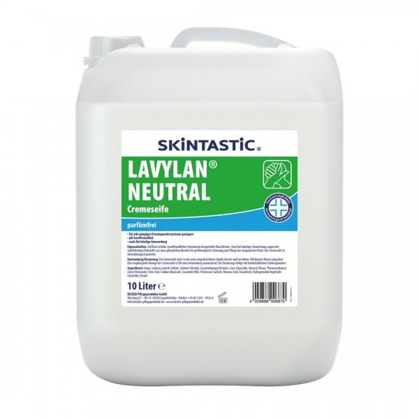 Skintastic Lavylan Neutral Cremeseife weiß, parfümfrei 10 Liter