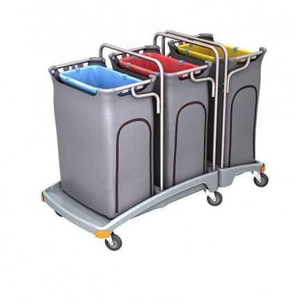 """Hochwertiger Abfallsammler von """"SPLAST"""" mit 3 Müllsackhalterungen für 120 l - Müllsäcke und drei Abf"""
