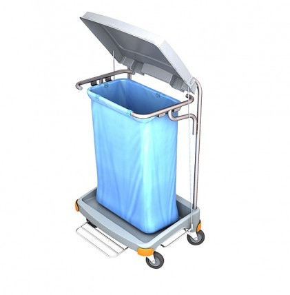 """Hochwertiger Abfallsammler von """"SPLAST"""" mit Müllsackhalterung für 120 l - Müllsack mit Pedal und Dec"""