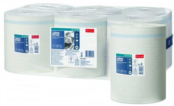 Tork Advanced 420 Rollenhandtuchpapier, Innenabrollung, 2-lagig, hochweiß, perforiert