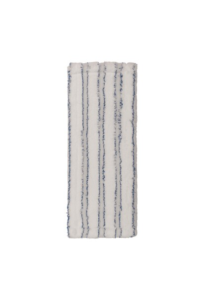 Premium 40 cm Mikrofasermopp weiß/blau