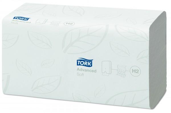 Tork Advanced TAD Handtuchpapier 21,2 x 25,5 cm, 2-lagig, Interfold, hochweiß, Extra weich