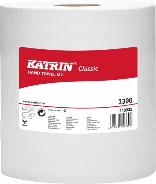 Katrin Classic M 2, Rollenhandtuchpapier Midi, weiß, 2-lagig,Karton