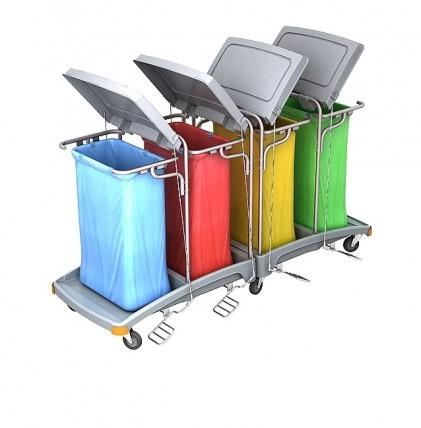 """Hochwertiger Abfallsammler von """"SPLAST"""" mit Müllsackhalterung für 4 x 120 l - Müllsack mit Deckel un"""